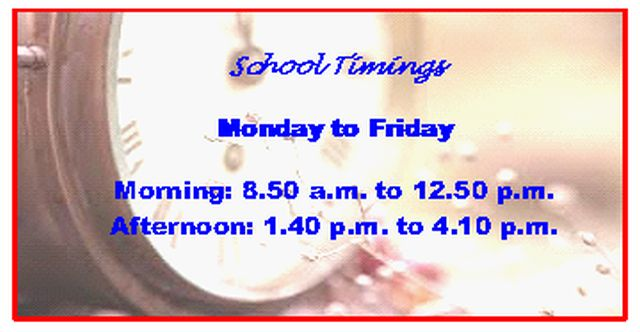 School Timings